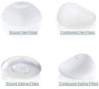 What is the difference between teardrop-shaped breast implants and round implants?