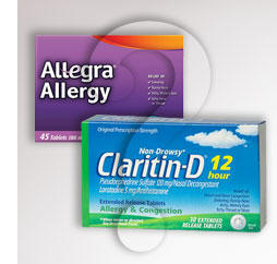 Can you take Claritin (loratadine) d and allegra together?