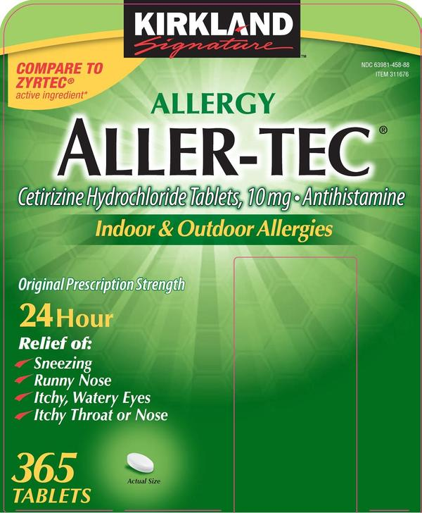 Is it okay to take Benadryl (diphenhydramine) with aller tec (by kirklands) for an allergic reaction?