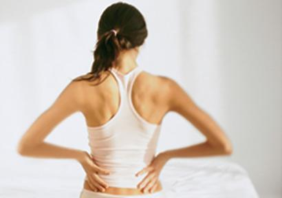 When i'm sitting down i notice that my low back starts to hurt also when i get up from sitting I have a low backache. What does that mean ?