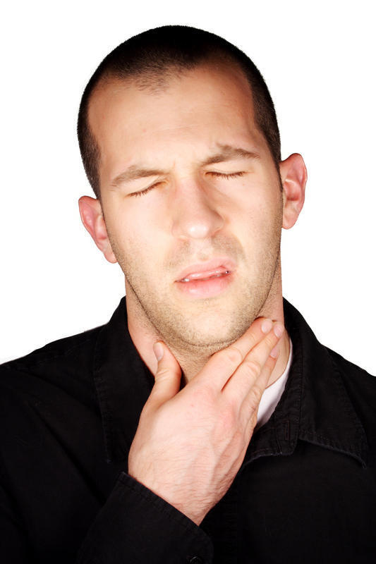 There is a dry irritated place in the back of my throat. I didn't notice it today, but it doesn't hurt when i cough either. I also feel nauseated.