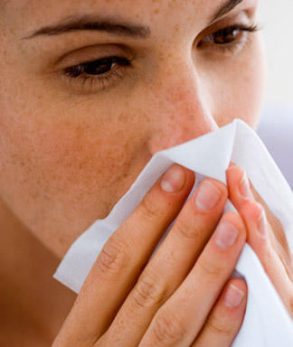 Are there any successful treatments for vasomotor rhinitis and associated coughing durig peak pollen when nasal sprays/antihista./inhalers do not work