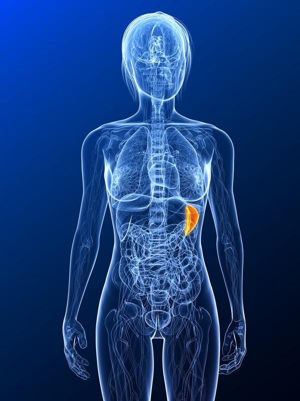 What causes an enlarged spleen?