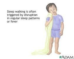 What's the safest way to wake a sleepwalker?