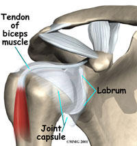 Which test/exam can determine if my shoulder is fully recovered? (torn labrum, 6 month ago)