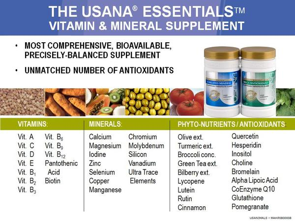 What is the best time to take the usana essentials supplement? Is it during day time or before going to bed? Why night /day time?