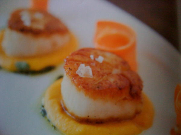 How well do I have to cook scallops and calamari, without turning them into rubber?