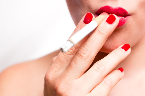 What could cause cough from a cold to stop from smoking a cigarette?
