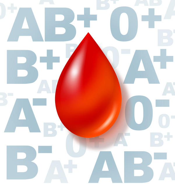 How do antigens differ according to each blood type?
