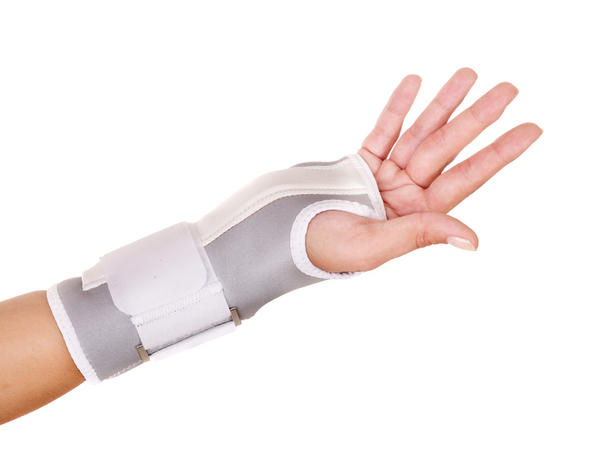 How can I break a sprained wrist?