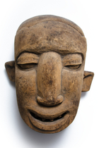 african,art,authentic,brown,carved,culture,face,figure,handmade,mask,old,primitive,rite,sculpture,texture,traditional,tribal,white,wooden Asymmetric face Face