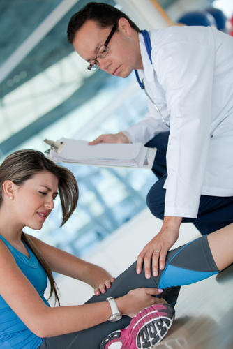 How can you determine the different types of knee injuries?