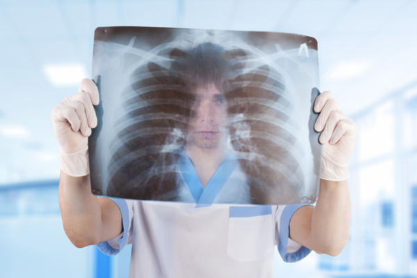 What do doctors do to a patient who has a punctured lung?