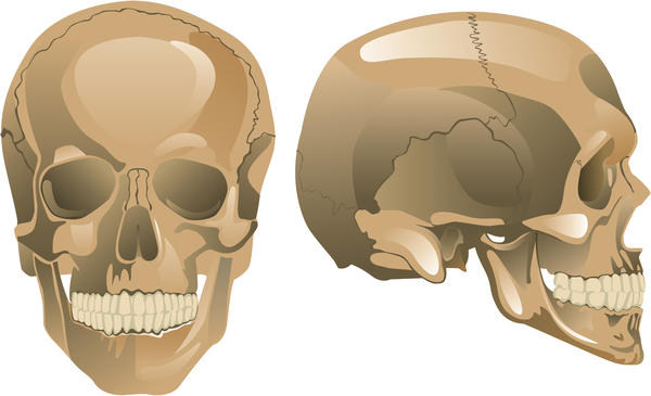 My 26-year-old son has a skull  that has depression between the skull joints from the middle part down to the back, and and both right and left side. ?