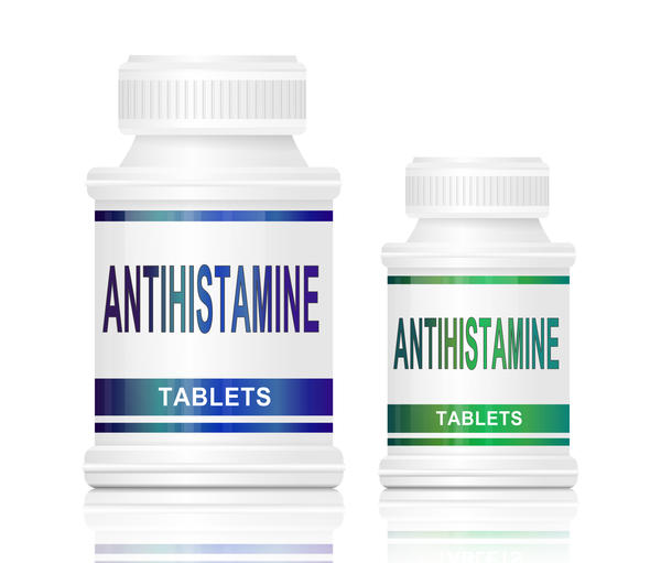 How many milligrams of antihistamine can a person take at one time?