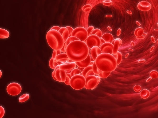 How do blood clots usually form?