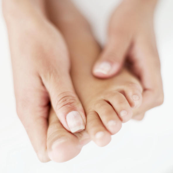 What can cause joint and muscle pain in feet?