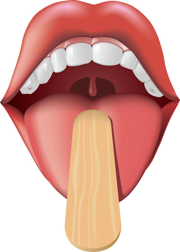 Middle to back of tongue like a greenish yellow color tongue scraper does nothing why is it that color dentist said nothing to worry about?