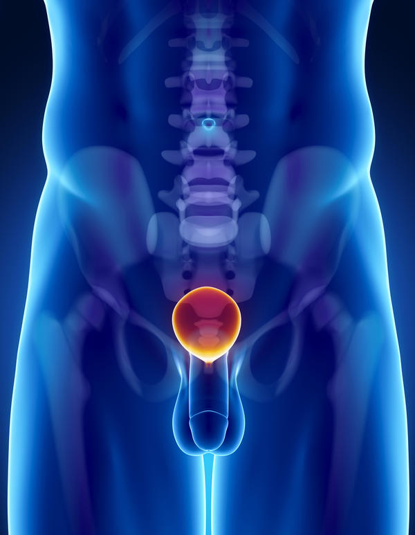 What causes the swollen of the urethra?