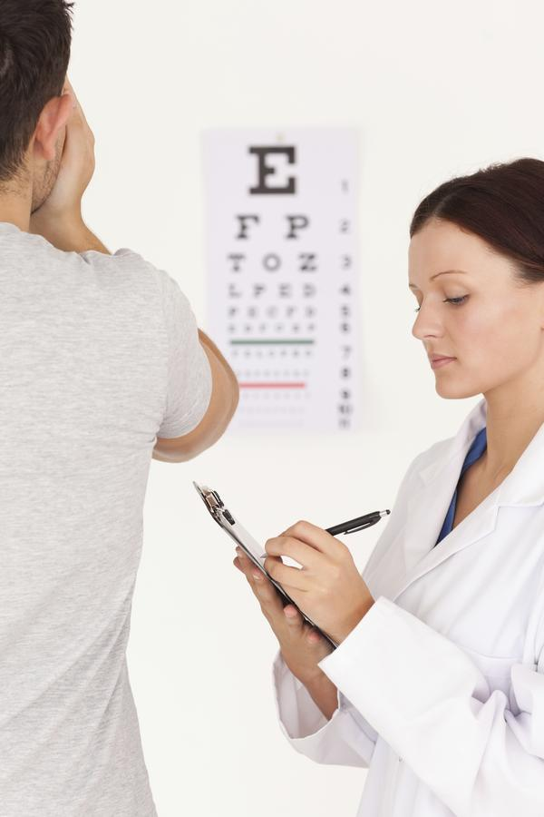 How can you measure visual acuity w/ the snellen eye chart?