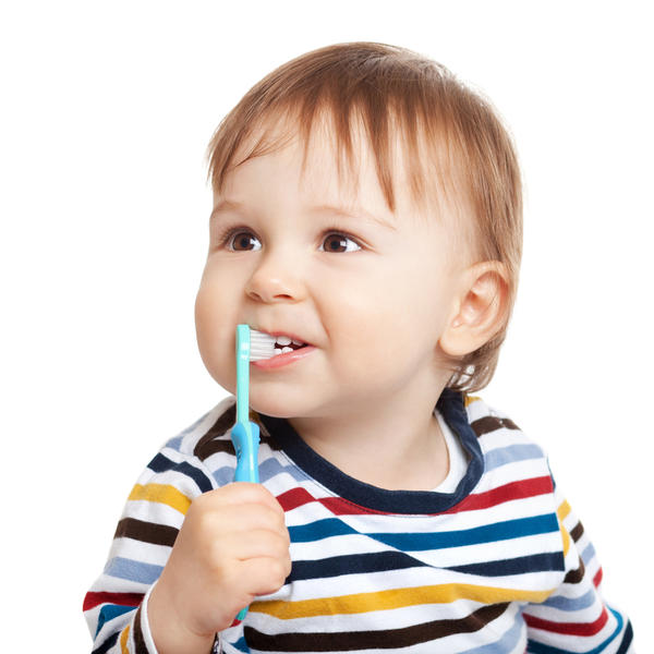 My 16 month old had blood coming out of his mouth. He has hypominerilization on front 2 teeth so brushing his teeth more vigorously in past few days?