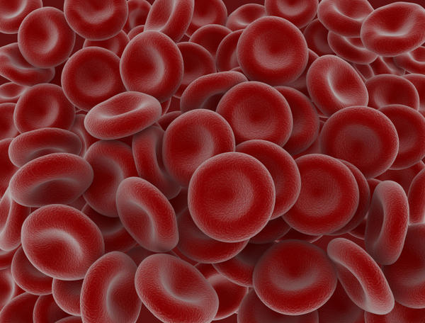 What measurment do they use for each donated blood component like red cells and platelets?