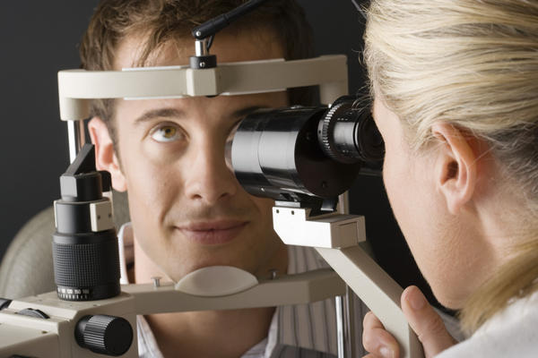 Could a eye test cause double vision?