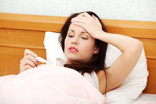 Fever during 15th day of ovulation is a sign of?