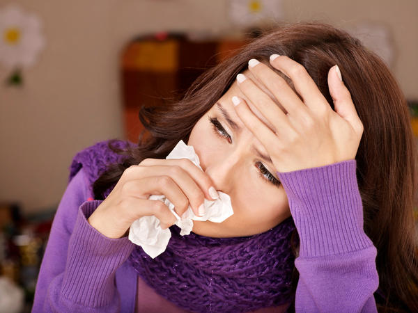 Sore throat, headache, blocked nose, sore eyes, bloody mucus, what are these symptoms of?