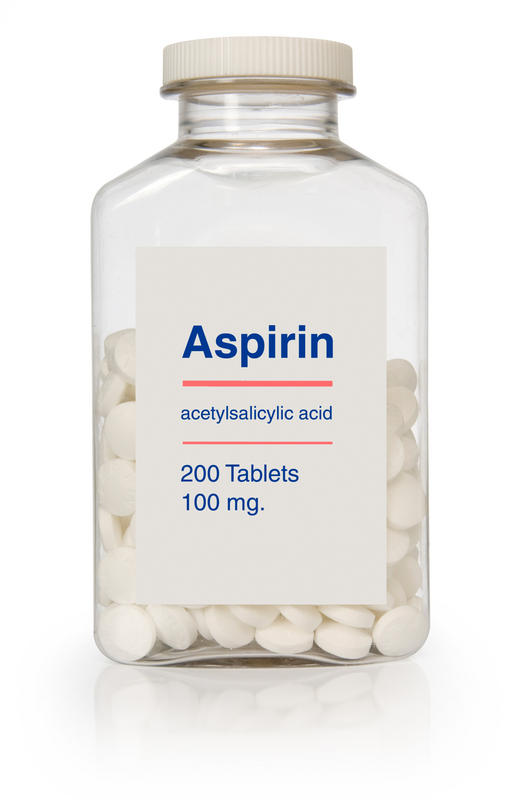 What is safe dose of aspirin for the purpose of blood thinning at onset of tia-like symptoms prior to diagnosis can be confirmed?