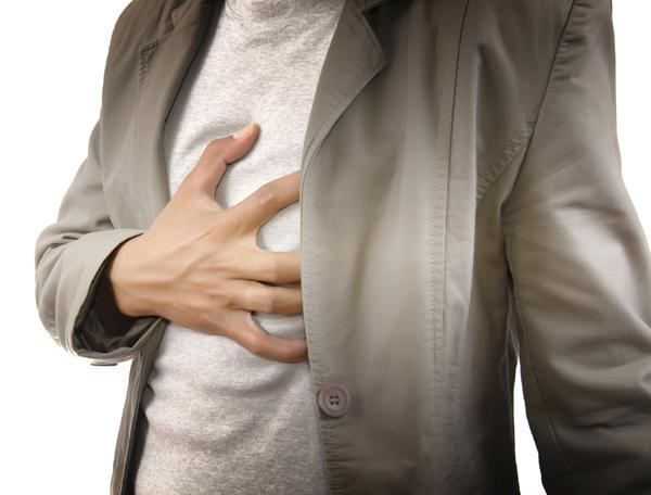 heartburn chest pain left side