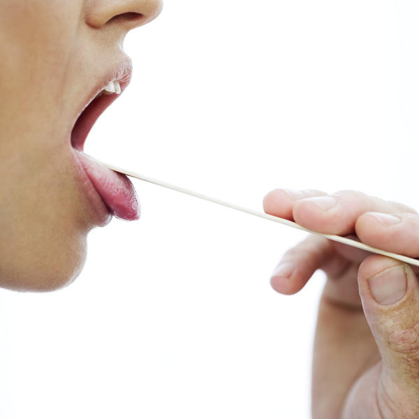 Throat soreness only from saliva swallow.not from food or drinnks?