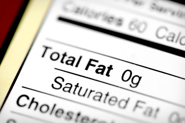 What should the fat intake be while taking alli?