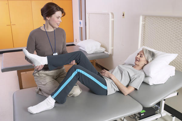 What is the typical physical therapy protocol for treatment of total hip replacement?