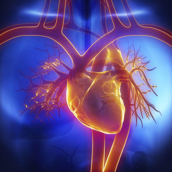 How does hypertension cause an insufficient supply of blood to the heart?