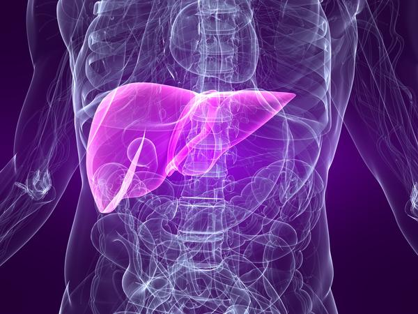 What is the first sign of liver damage from medication?