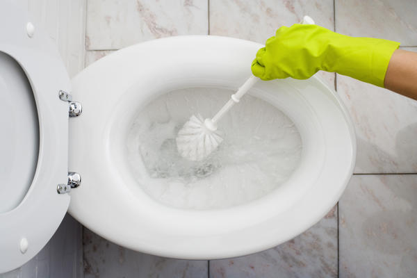 What causes cervical mucus in toilet?