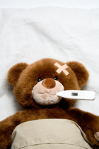 bandage, bear, bed, bedroom, bedtime, care, child, childhood, clinic, cure, cute, diagnosis, examination, fever, funny, head, health, health care, healthcare, hospital, hurt, ill, illness, injured, injury, medical, medicine, pain, painful, patient, pediatric, pediatrician, sick, sick bear, sick child, sick teddy bear, sickbed, sickness, teddy, teddybear, temperature, therapy, thermometer, toy, trauma, wound Fever Antibiotic Strep throat Exposed to strep throat Throat Infection Pharynx Streptococcal infection