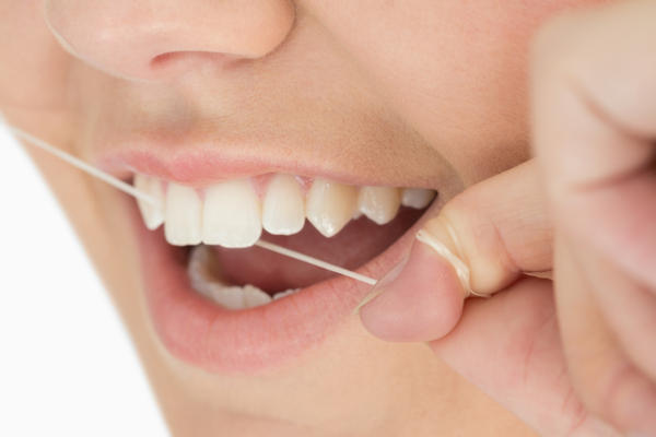 I'm interested to know what happens when you get dental floss stuck in your gums?