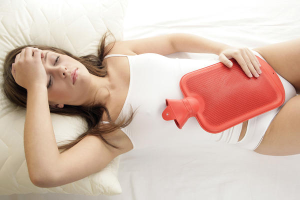 What might cause dysmenorrhea with very light bleeding?