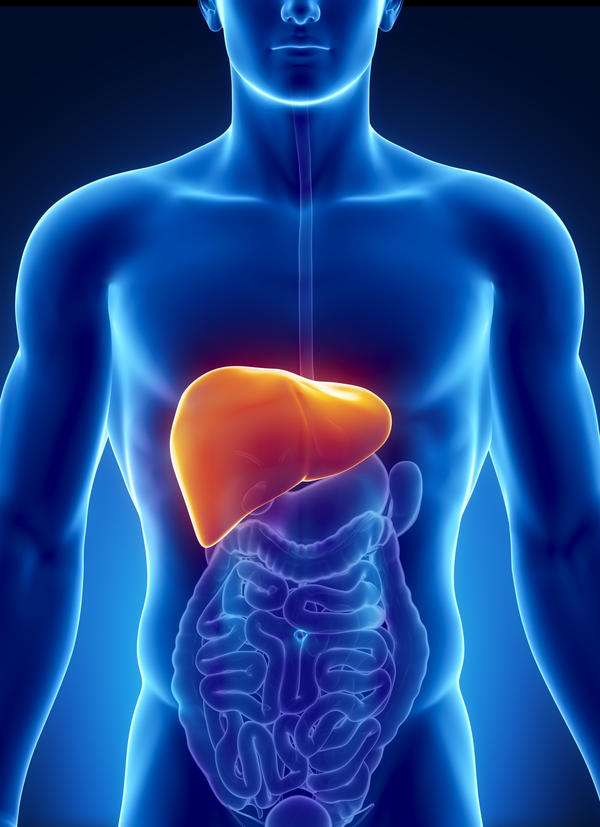 Where is your liver located right side?