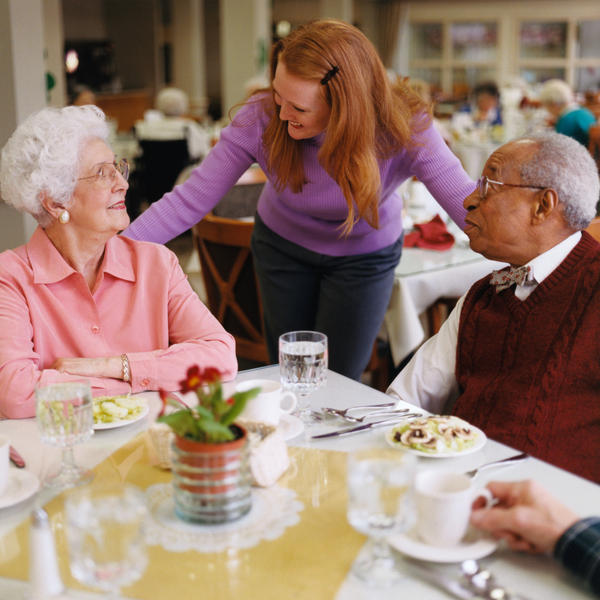What kind of care can a family provide compared with nursing home?