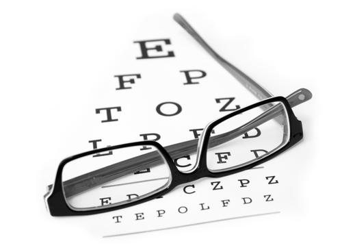 Is there an eye disorder that causes a blind spot in the central vision area?