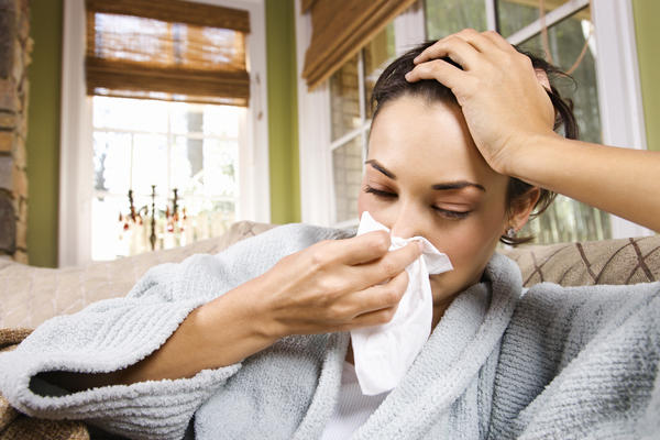 How long is someone contagious for when they have the common cold, flu, or bacterial / viral bronchitis?