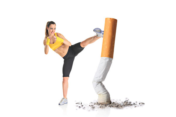 "Smoking cessation: is it biologically correct for a female to ""spot"" after quitting smoking cigarettes?"