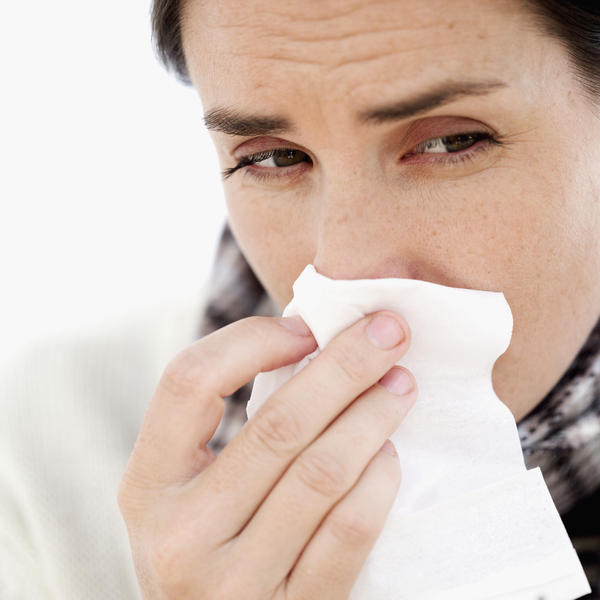What is the best thing to take for a burning red eye that is sensitive to light and a little bit of a runny nose?