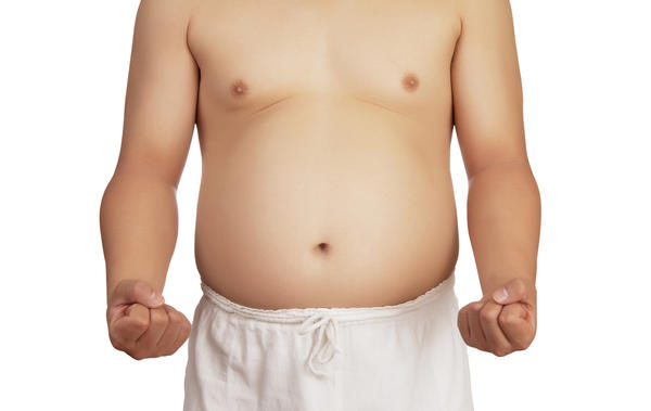 What would cause abdomen swelling in a healthy male?