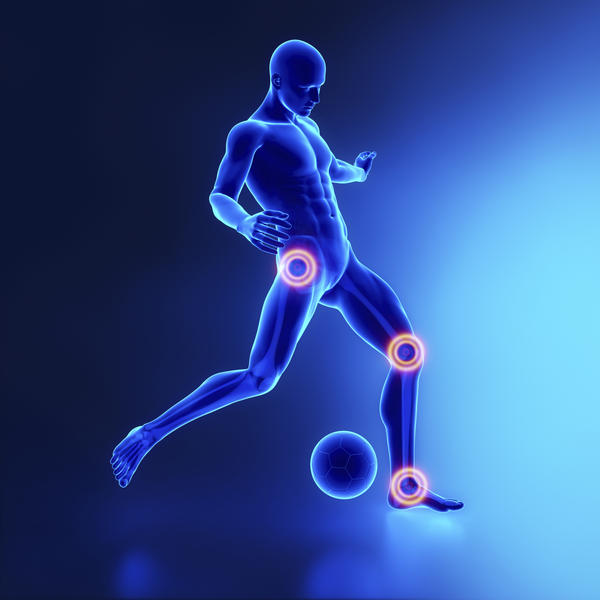 What is the cause of joint pain and tiredness in the leg?