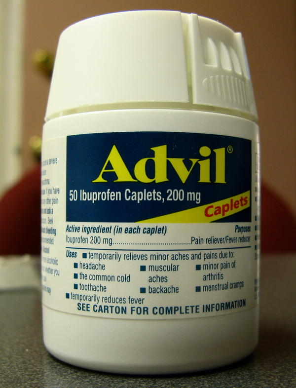 What to do if i was takin Advil (ibuprofen) since 2weeks bcuz of toothache.I'v gained weight :|, is it bcuz of advil (ibuprofen)?