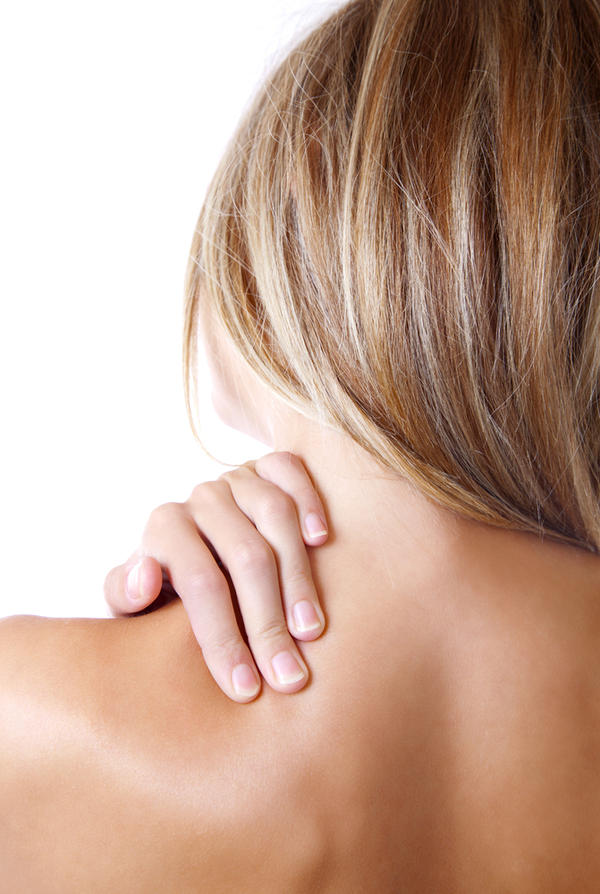 What eill relieve neck pain due to a herniated disc?